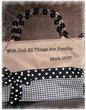 Mark 10:27 Purse