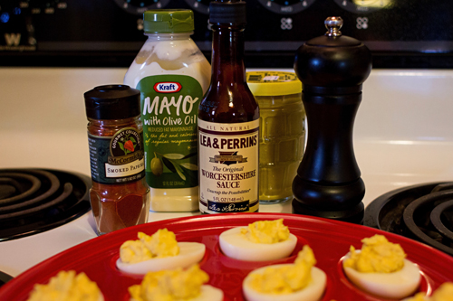 Ingredients for Devilled Eggs
